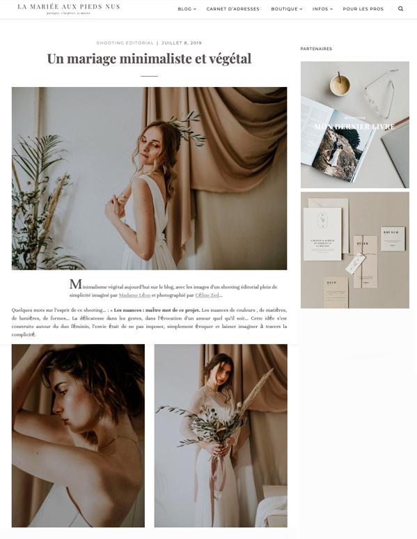 La mariée aux pieds nus - Juillet 19