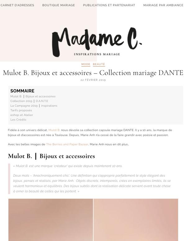 Madame C - Février 19